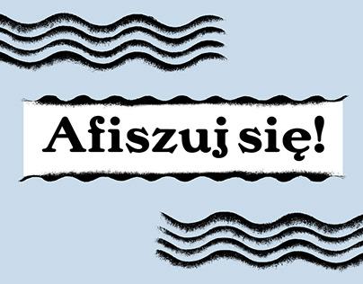 AFISZUJ SIĘ! free fonts & ilutrations
