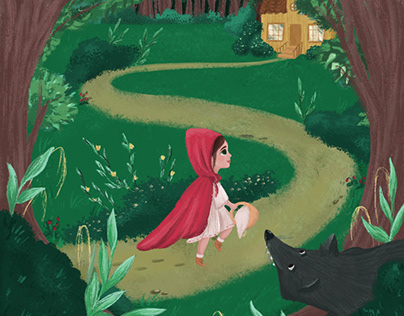 Illustration for the book Little red Riding Hood