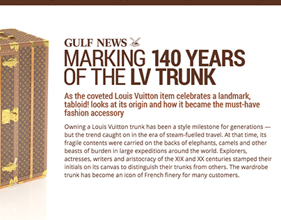 Marking 140 years of the LV Trunk