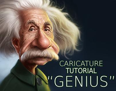 Einstein Caricature for Photoshop Creative 159