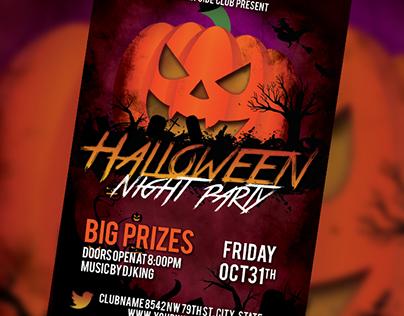 Free PSD Halloween Flyer