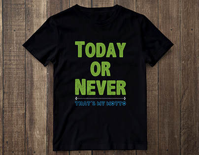 T-Shirt Design with Quote