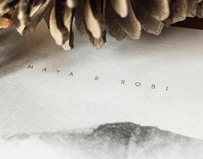 MAYA & ROBI - wedding invitation and web design