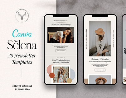 Selena - Canva Newsletter Templates