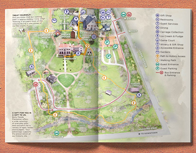 Belle Meade Plantation Map and Garden Rendering