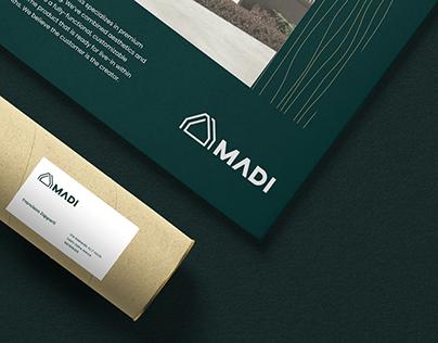 MADI - Branding for a Swiss modular housing company