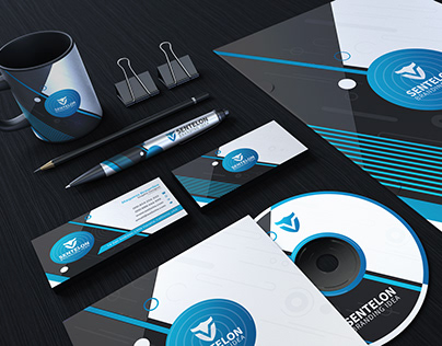 Lentelon Corporate Branding Stationary Identity