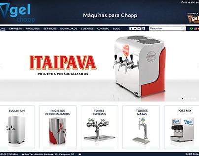 Gel Chopp + Gel Coffee homepage