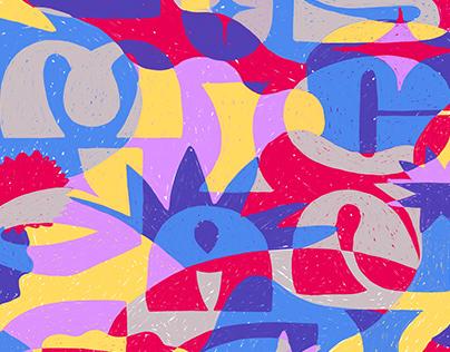 Cosmic Dance - Lettering & Illustration