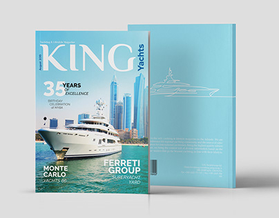 King Yachts Magazine Layout