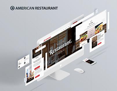 American Restaurant | Wordpress Responsive Website