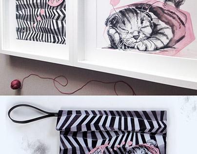 Fashion Illustration - Clutch Bags