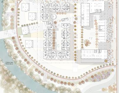 Diseño urbano y de primer piso, a cargo | Of L.Calderón