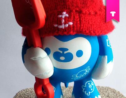 Un Designer Toy Artesanal customized by Squid&Pig
