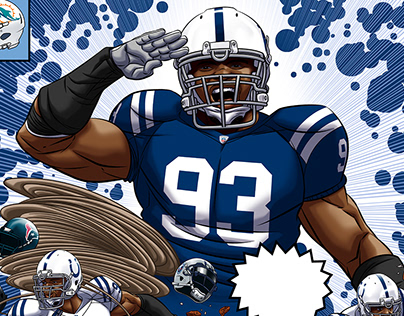Indianapolis Colts Dwight Freeney Artwork