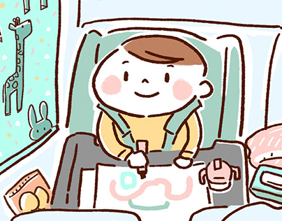 """kawaii"" Children illustration for web site."