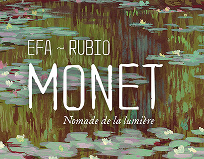 """""""Monet, itinerant of light"""" book cover"""