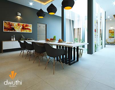 Dining Area, Interior Design- Minimalistic