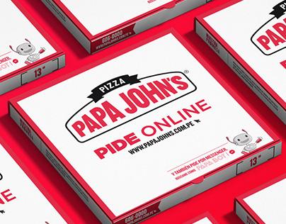 Papa Johns Packaging + Personaje