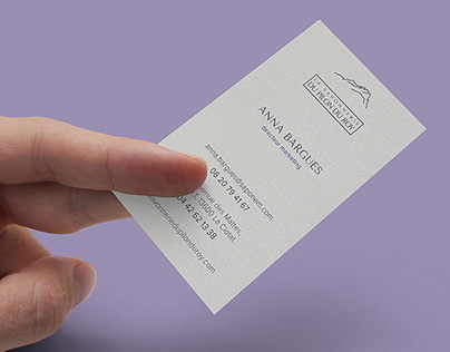 Business card for natural cosmetics company