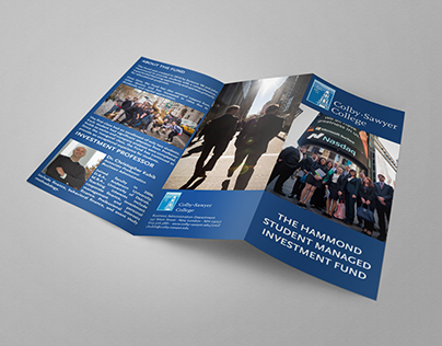 Tri-fold brochure - Student-managed investment fund