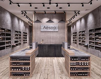 Дизайн-проект магазина Aesop