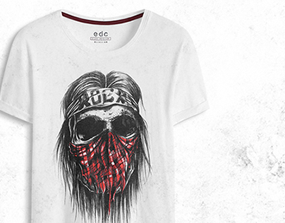 ROCK LIFE //Pencil Illustrations T-shirts for EDC Brand