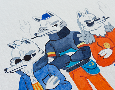 Wolfs in Town / Illustration