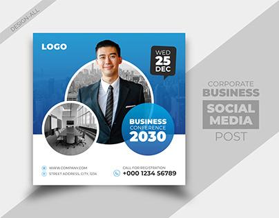 Business Conference Social Media Post Design