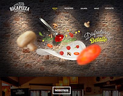 Ricapizza Gourmet - Web design