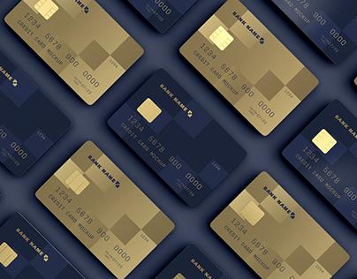 Credit Card Mosaic Mockup