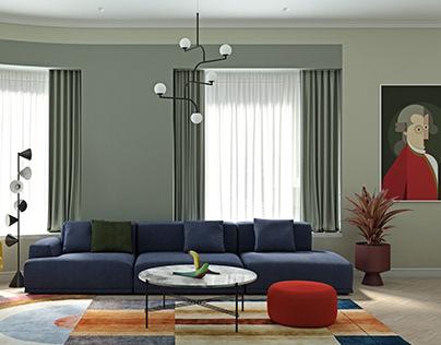 Сolored living room