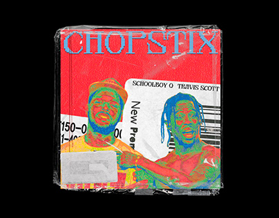 CHOPSTIX - SCHOOLBOY Q + TRAVIS SCOTT ALBUM ART COVER.