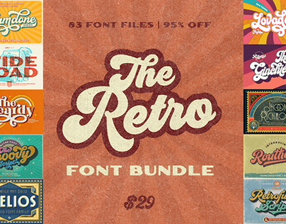 THE RETRO FONT BUNDLE