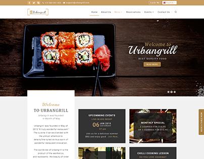 Urbangrill-Restaurant Web Design