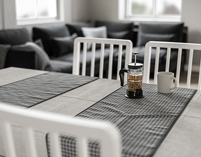 CGI Ikea Table with Chairs