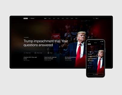 BBC NEWS — redesign concept