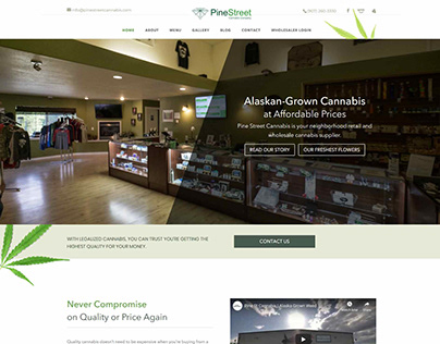 Pine Street Cannabis - PSD to WordPress