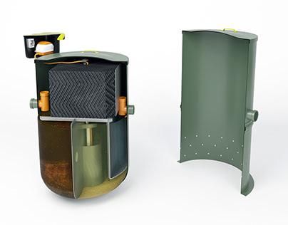Household sewage treatment system