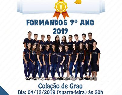 Convite de Formatura 2019 Colégio Guiness