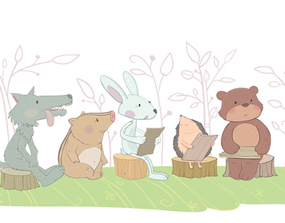 Illustrations for Children's School Book