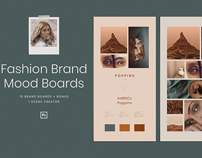 Fashion Brand Mood Boards Mockup