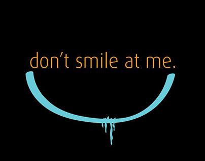 billie eilish / dont smile at me / typographic design