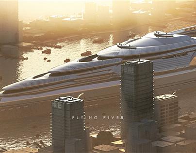 Flying river
