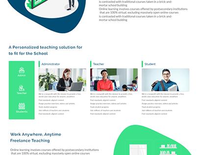 Online classes Web portal