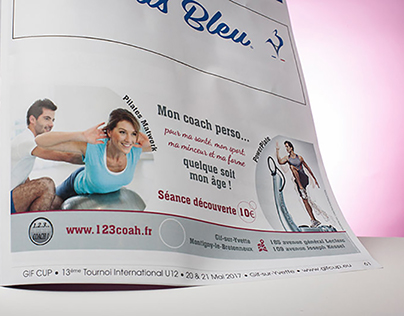Advertising for a magazine