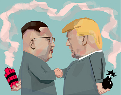 Nuclear Diplomacy Editorial Illustration