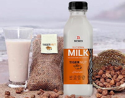 Tigernut Milk bottle label