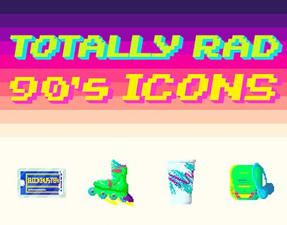 90's Icon Set - Pixel Art
