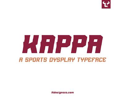 """""""Kappa"""" Typeface."""